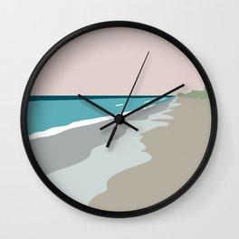 Low Tide . Light Blush  Wall Clock