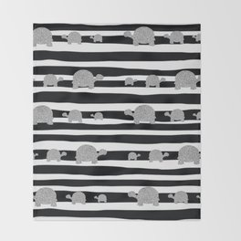Silver turtle pattern Throw Blanket