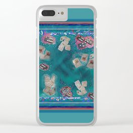 Surreal Lake Art and Poem Clear iPhone Case