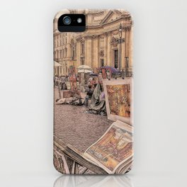 Strade di Roma iPhone Case