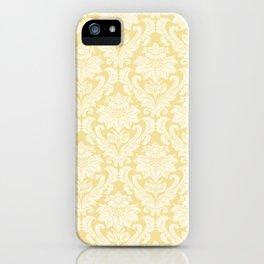 Cream Damasco iPhone Case