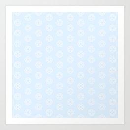 Happy Round Gems Art Print