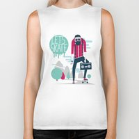 skate Biker Tanks featuring Let's skate  by SpazioC