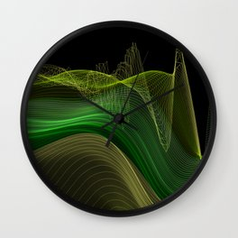 The land of the Green Waves Wall Clock