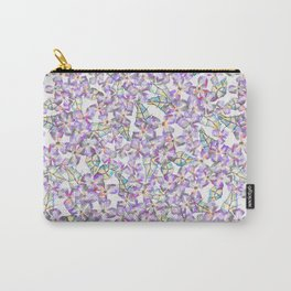 Pinkie Sketchy Flowers Carry-All Pouch