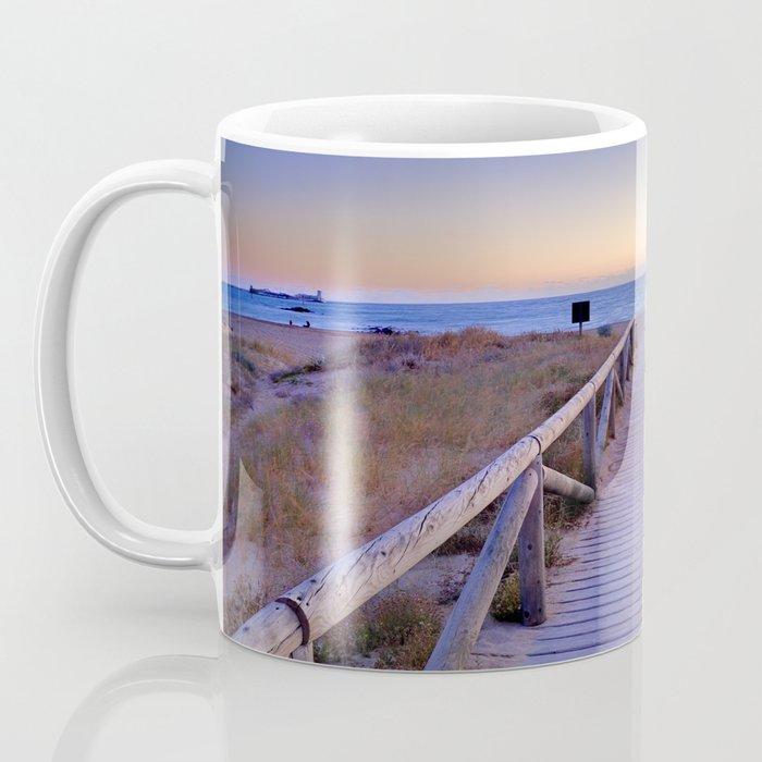 The path..., the beach.... Coffee Mug
