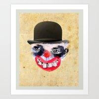 clown Art Prints featuring Clown by Ahmet Hacıoğlu