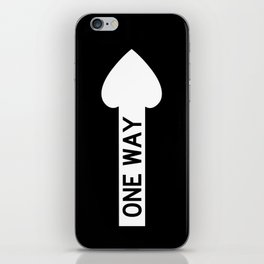 one way iPhone Skin