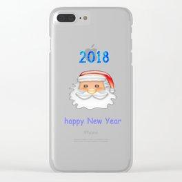Santa Claus Clear iPhone Case