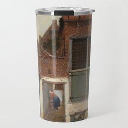 Johannes Vermeer - The little street Travel Mug