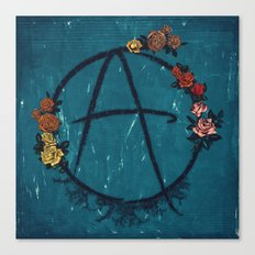 Anarchy (but with flowers) Canvas Print