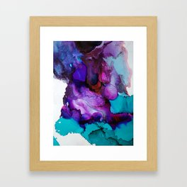 Purpled minded Framed Art Print