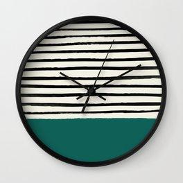 Jungle x Stripes Wall Clock