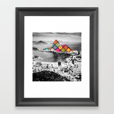 Funky Landmark - Rio Framed Art Print