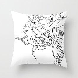 Alpha Kappa Alpha Rose Throw Pillow