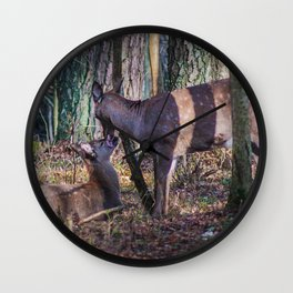 Doe and Fawn Wall Clock
