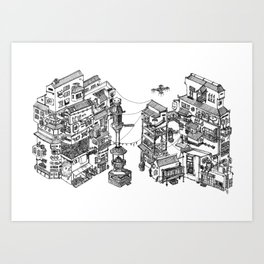 一番街 • Ichibangai Art Print