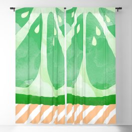 Lime Abstract Blackout Curtain