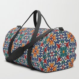 Colorful Azulejos Pattern Duffle Bag