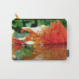 Autumn leaf reflected Carry-All Pouch