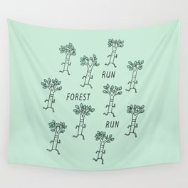 Run Forest Run Wall Tapestry