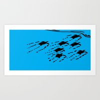 turtles Art Prints featuring Turtles!!! by designx79
