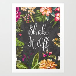 Shake If Off Vintage Flower Design Art Print Art Print