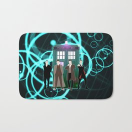 The Doctors And Tardis Bath Mat