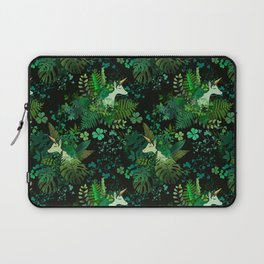 Irish Unicorn in a Garden of Green Laptop Sleeve