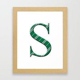 S for Slytherin Framed Art Print