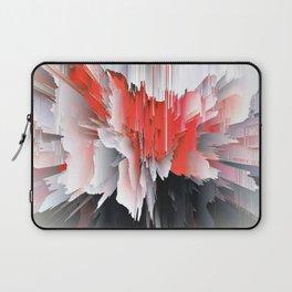 Digital Red Bursts Laptop Sleeve