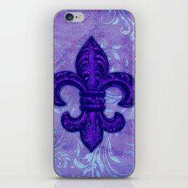 Purple Fleur de Lis iPhone Skin
