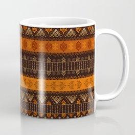 Orange & Black Boho Geometric Pattern Coffee Mug