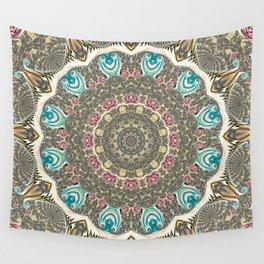 Incandescent Fractal Mandala Wall Tapestry