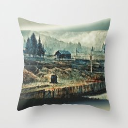 Snow In The Vaucluse Throw Pillow