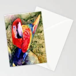 Macaw on a Rock Stationery Cards