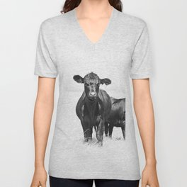 Cattle Country Photograph Unisex V-Neck