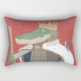 Crocodile King Rectangular Pillow