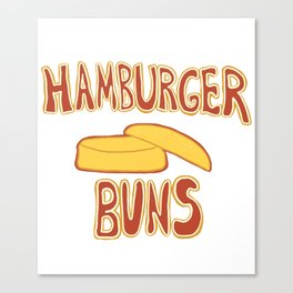 Hamburger Buns Canvas Print