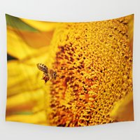 bee Wall Tapestries featuring Bee by Alex Gregory Mears