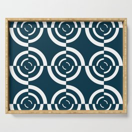 Op art circles Serving Tray