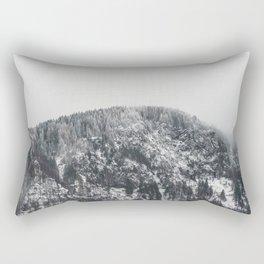 Snowy Mountain - Forest Adventure Begins Rectangular Pillow