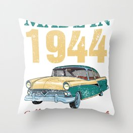 All Original Parts Made In 1944 75th Birthday Gift Throw Pillow