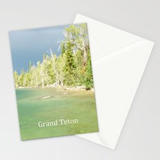 Grand Teton National Park. Landscape photography of lake and trees. Stationery Cards