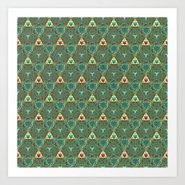 Courtly Pattern Art Print
