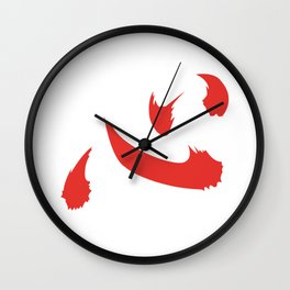 Anime Netero Lucky Shirt Inspired Design (Symbol means Heart/Mind in Japanese) Wall Clock