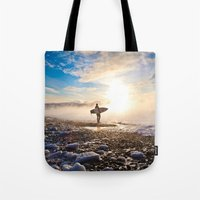 surfer Tote Bags featuring Surfer by joshuaveldstra