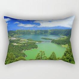 Lakes in Azores islands Rectangular Pillow