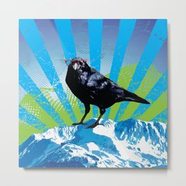 Raven on the Rise by Crow Creek Cool Metal Print
