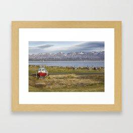 The Icelandic Boatyard Framed Art Print